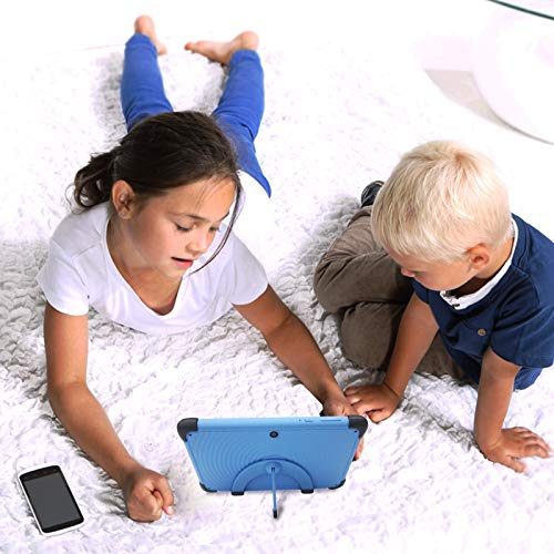 Kids Tablet 7 Inch WiFi Android 10 Tablet PC 2021 New IPS HD Screen, 2GB RAM 32GB ROM, Parental Control,Kid-Proof Case with Stand, Blue