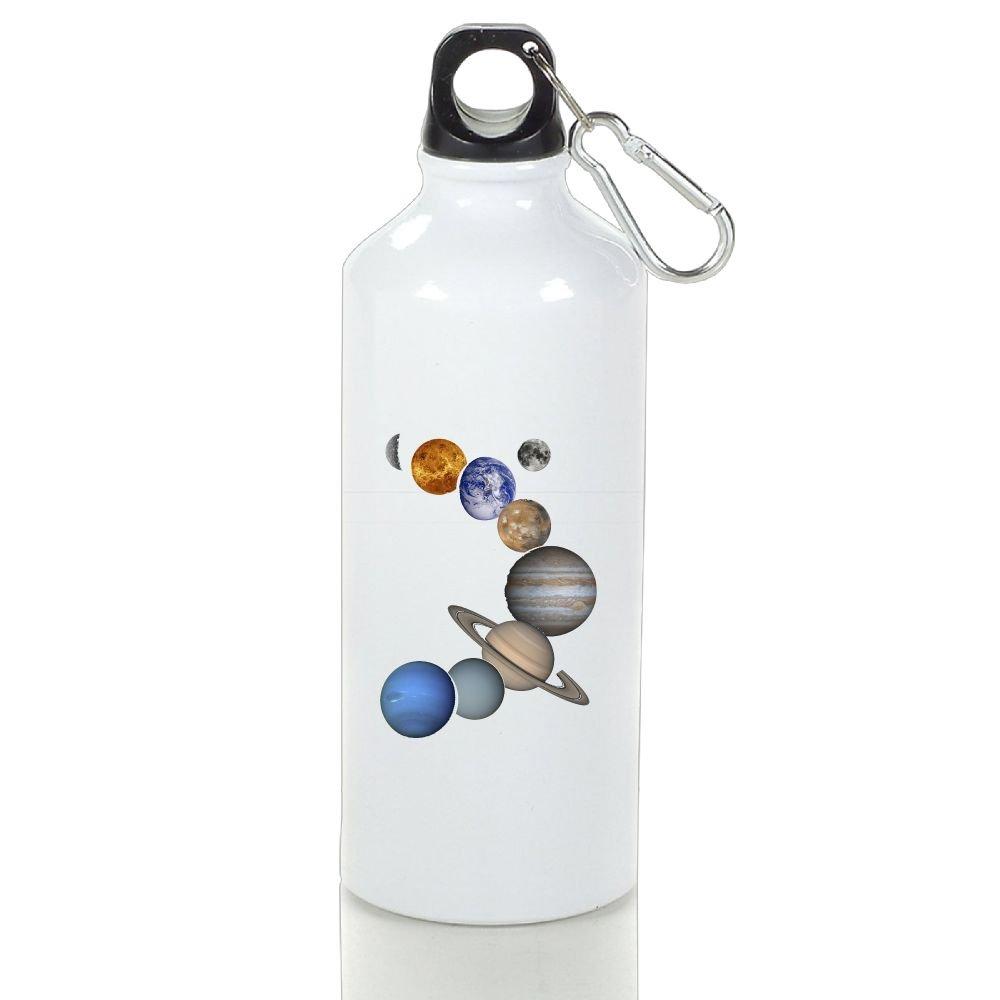 Wooun-6 Cycling Aluminum Water Bottle Solar System Planets Sport Bottle