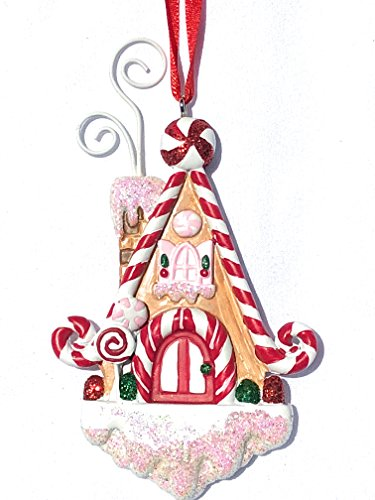 Gingerbread House Christmas Ornament Clip Photo Holder, Picture Holder Christmas Ornament