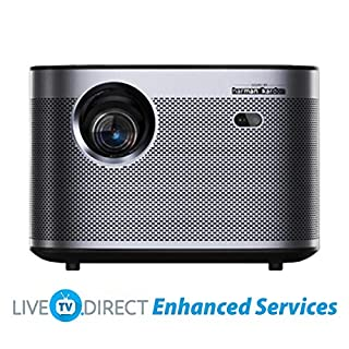 CACACOL Updated XGIMI H3 Android 3D Smart TV Home Cinema 4K Projector | Native 1080p HD | 1900 ANSI Lumens | Harman/Kardon Hi-Fi Stereo Speaker | Global Languages Support