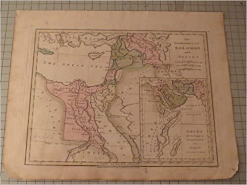 Antique Map (1798) The Dominions of Solomon and his Allies