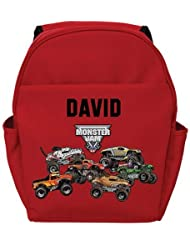 Personalized Monster Jam Freestyle Red Backpack