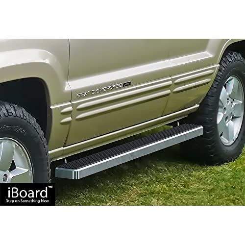 "Top APS Premium 4"" iBoard Running Boards Fit 99-04 Jeep Grand Cherokee 4Dr for sale"