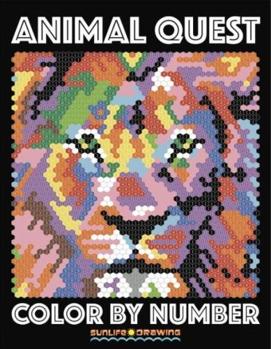 ANIMAL QUEST Color by Number: Activity Puzzle Coloring Book for Adults Relaxation & Stress Relief (Quest Coloring Books) (Volume 1)