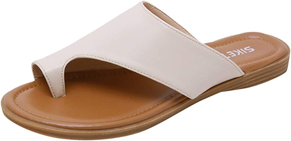 Womens Boho Flat Flip Flops Sandals Ladies Summer Beach Slippers Slider Shoes SZ