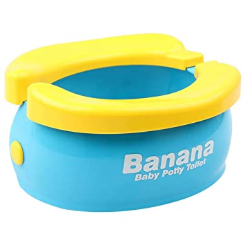 faltbar M/ädchen tragbar f/ür Kinder Jungen Sunrise-EU Reisetopf tragbar f/ür Kinder Sch/öner Toilettensitz aus Banane und Toilettenformat Kleinkinder