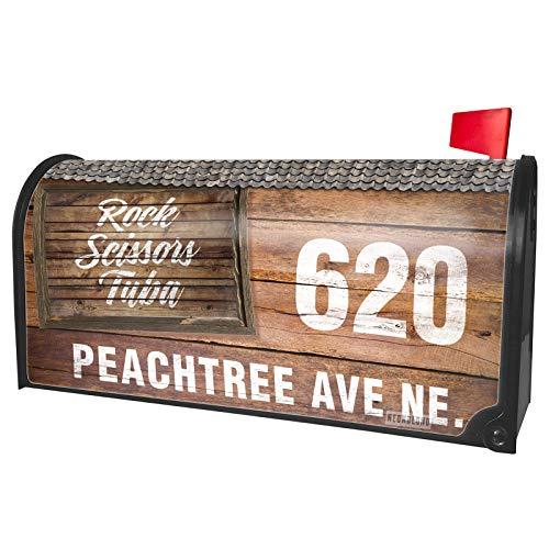NEONBLOND Custom Mailbox Cover Painted Wood Rock Scissors Tuba ()