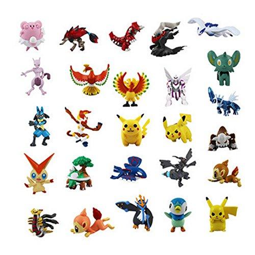 "JIAHUI PikaMonster Mini Action Figures Toy (Lot of 24 Piece), 1"""