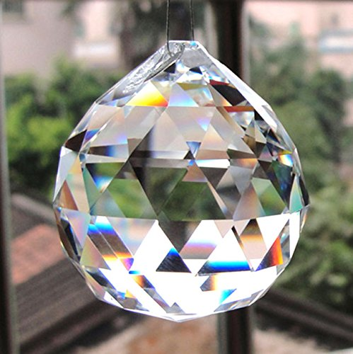 kit 5 Bolas Esfera Facetada De Cristal (40 mm) Linda (Feng Shui)