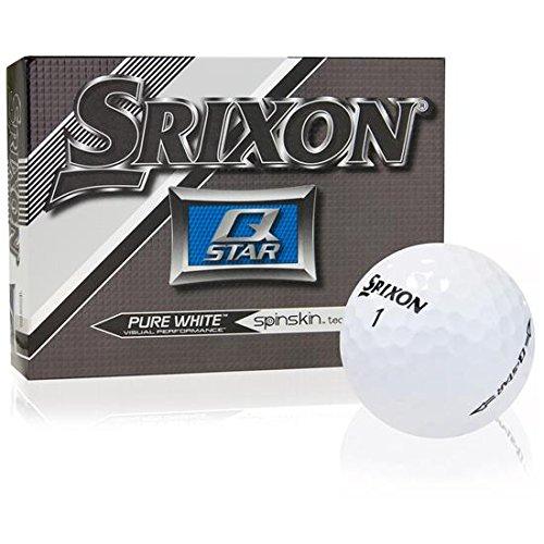 Srixon 2015 Q-Star Golf Ball (1 Dozen), Pure White
