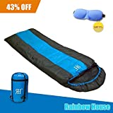 Cheap Rainbow House Sleeping Bag for Adult/Kids,Cold Weather Lightweight Waterproof Comfort Backpacking Mummy Sleeping Bag with Compression Sack for Camping Hiking Outdoor