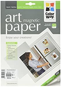 ColorWay Glossy Magnetic Photo Paper, 8.5x11 inches, 5 magnetic photosheets (PGA690005MLT)