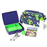Laptop Lunch B630 Bento System 2.0, Blue/Lime Alien