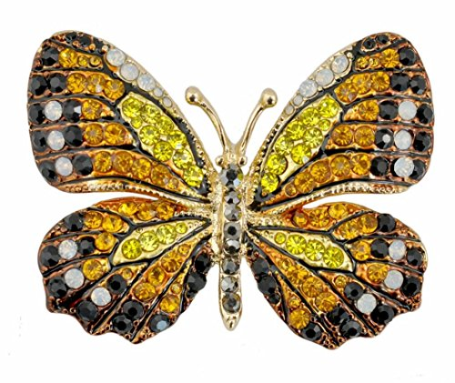 QTMY Colorful Rhinestone Butterfly Brooches Pin (7)