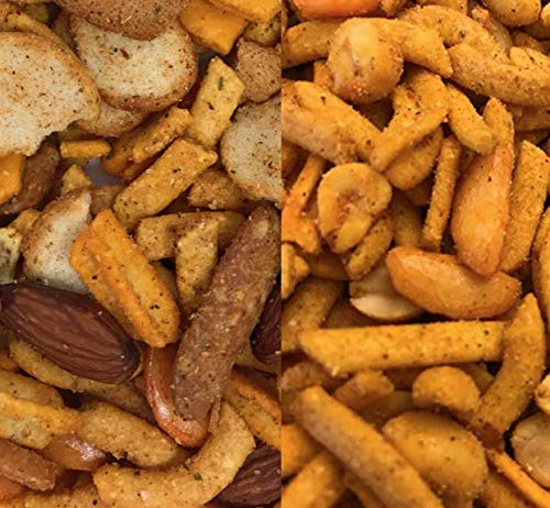 Spicy, Crunchy, Cajun Snack Mix; 2 Flavors, 2 One Pound Bags