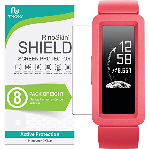 (8-Pack) RinoGear for Fitbit Ace 2 (2019) Screen Protector Case Friendly Screen Protector for Fitbit Ace 2 Accessory Clear Film