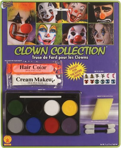 Rubie's Costume Complete Clown Makeup Kit, White, One Size (Makeup Halloween Costumes)