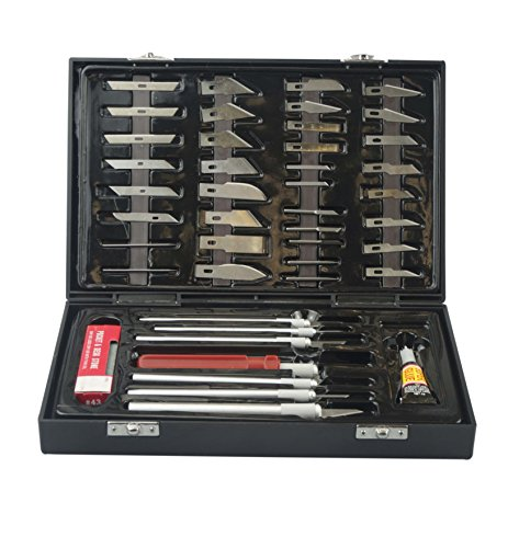 SE 81351HB 51-Piece Deluxe Hobby Knife Set