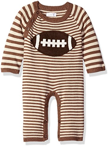 Pie Onesie (Mud Pie Baby ' Elephant Striped Sweater One Piece Playwear, Brown, 0-3)