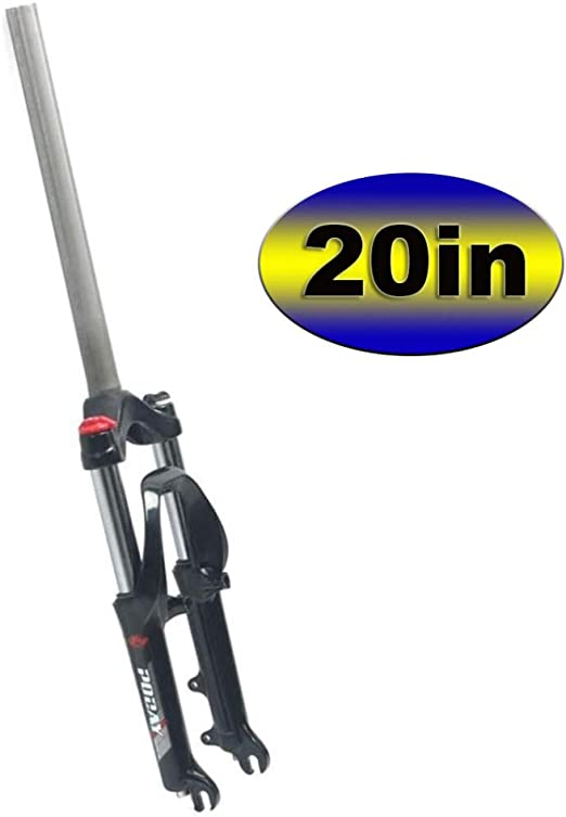MIYUEZ 20 Pulgadas Suspensión De Horquilla para Bicicleta Plegable Amortiguador Bicicleta Nieve Horquilla Mecánica Extendida para 4.0