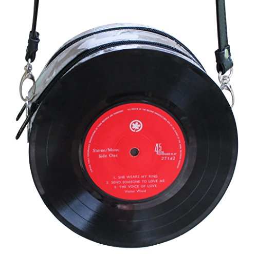 Small vinyl record crossbody - FREE SHIPPING - bag bags musician violin piano music player handbag collection concert choir singer Fair trade fun inspiring alternative ideas functional beautiful