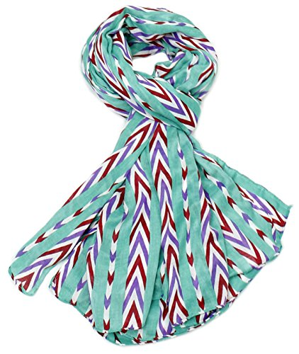 (CANDY STRIPE summer blue scarf. Old fashioned candy stripe digital print, can be worn as a sarong at the beach or as a belt with your favorite jeans or pants or as a headband. )