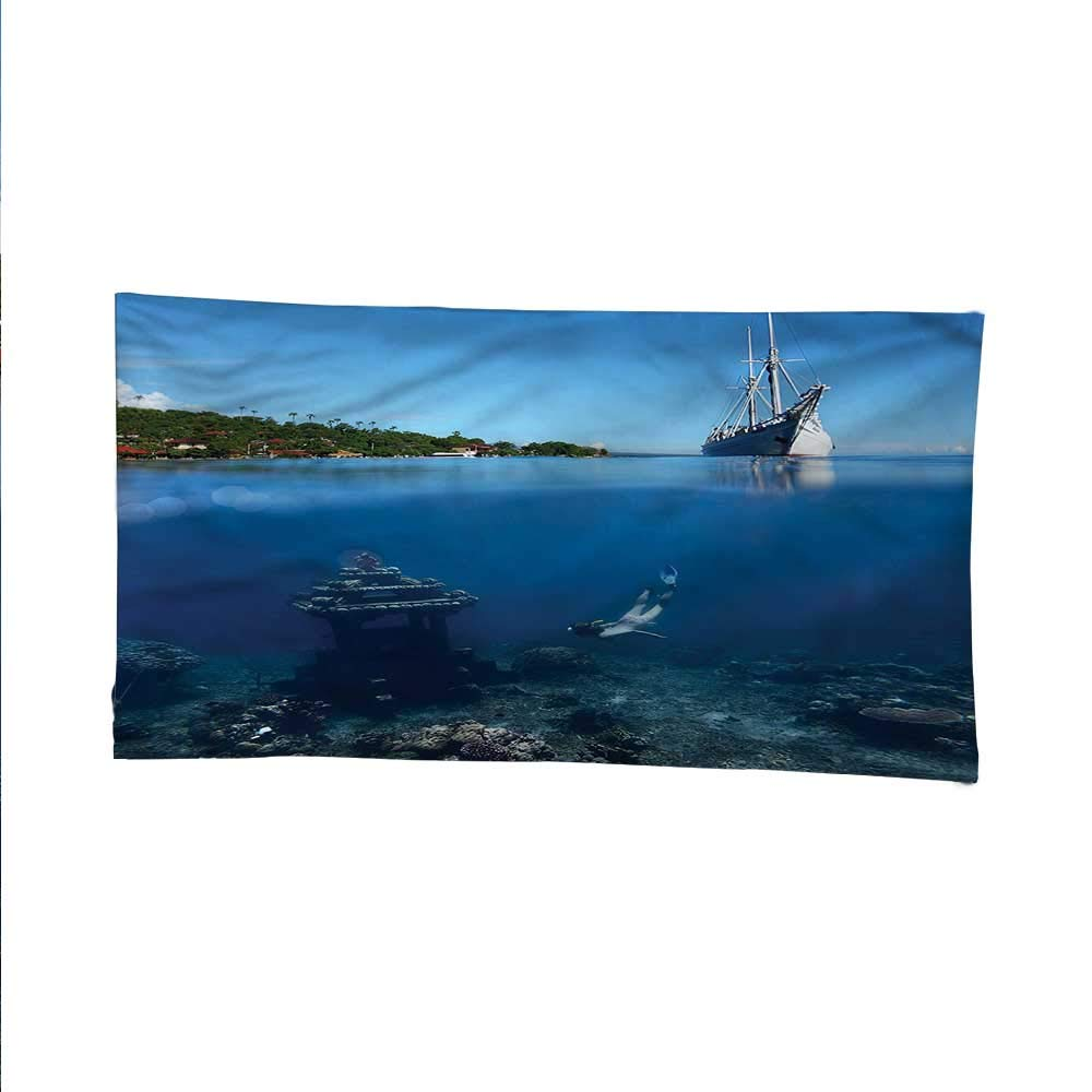 Balinesesimple tapestryart tapestrySwimming Diving Underwater 84W x 54L Inch by Anyangeight