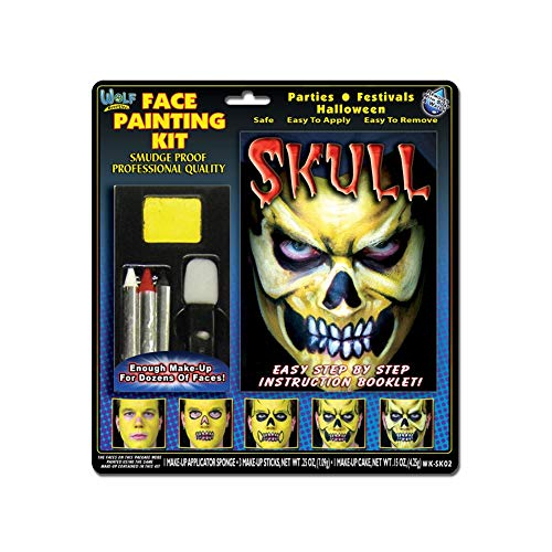 Wolfe Skull Face Painting Kit -
