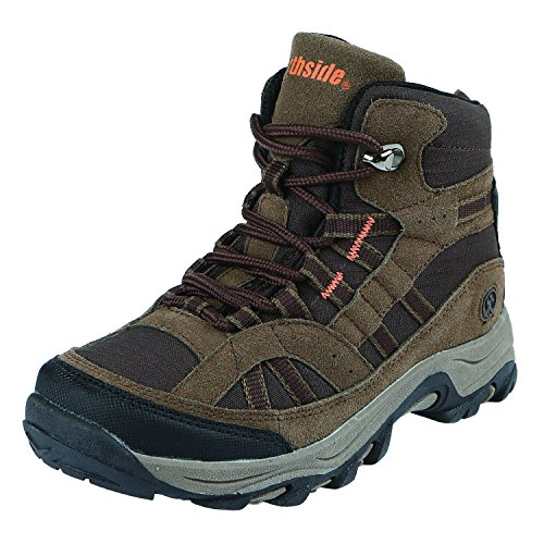 Northside Unisex Rampart MID Waterproof Hiking Boot, Brown, 4 Medium US Big Kid