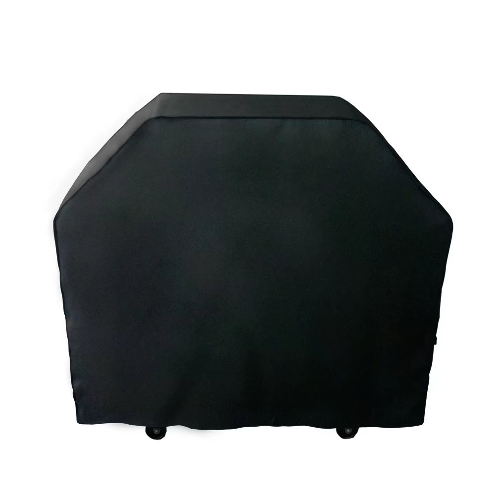 Nextcover Universal Gas Grill Cover 72 inch 600D Canvas Heavy Duty Waterproof Fade Resistant BBQ Grill Cover for Weber Char Broil Holland Jenn Air Brinkmann. - Black N21G804
