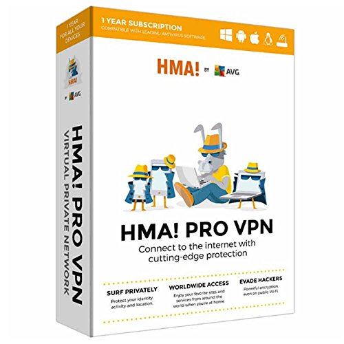 AVG HMA! PRO VPN Multi Device 1 YEAR SUBSCRIPTION (KEY CARD IN BOX. NO CD)