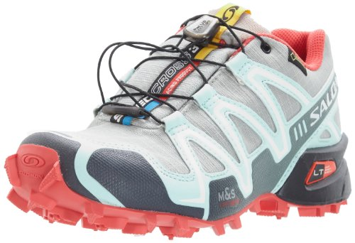 the latest 027e0 32b22 Salomon Speedcross 3 GTX Trail Running Shoe-Backcountry Exclusive-Women s  Chalk Grey Igloo Blue Papaya