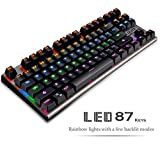 Mechanical Gaming Keyboard - Lolita Spyder 87 RGB Rainbow Light [Kailh Blue Switch]