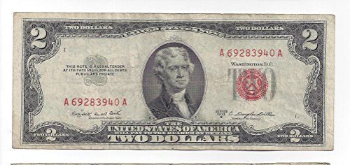 1953-B 2 Dollar Legal Tender Note (Dollar Note)