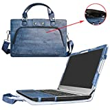Ideapad 510 15 Case,2 in 1 Accurately Designed Protective PU Leather Cover + Portable Carrying Bag For 15.6' Lenovo Ideapad 510 15 510-15isk 510-15ikb Laptop(not fit Ideapad 510s/520/520s),Blue