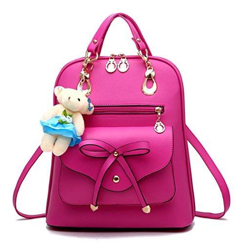 Generic - Bolso mochila  de Material Sintético para mujer M rosa (b)