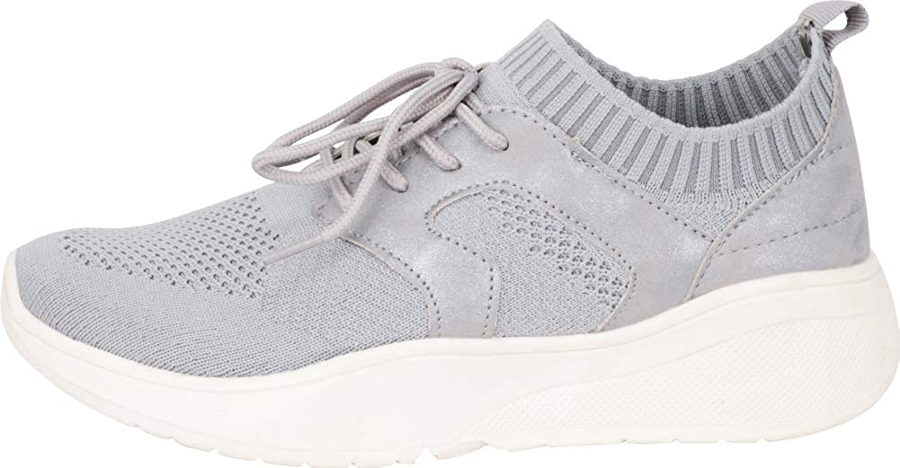 Cambridge Select Womens Low Top Lace-Up Lightweight Breathable Mesh Fashion Sneaker