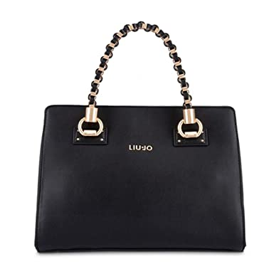 Borsa Liu Jo manhattan a mano N19099 E0040 nero  Amazon.it  Scarpe e borse ea17e71d8a7