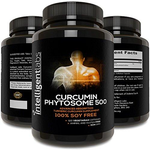 500MG Meriva Curcumin Phytosome, 2900% More Better Absorbed Than Ordinary Turmeric Curcumin 100% Soy Free, 120 Capsules Per Bottle, Tumeric Curcumin Phytosome Complex