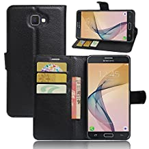 """Samsung Galaxy J7 Prime Case , New Luxury Flip Stand PU leather Cover Wallet Case for Samsung Galaxy J7 Prime G610 / ON7 2016 5.5"""" Phone Case + Screen Protector"""