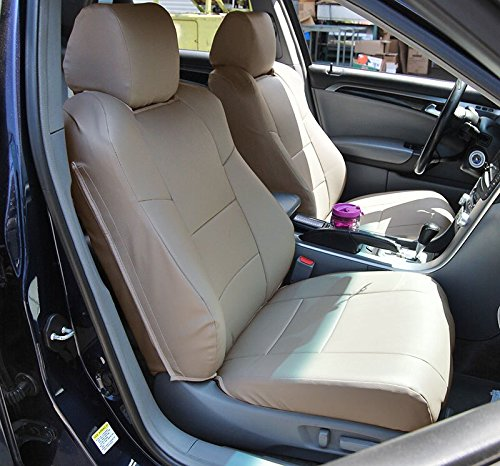 ACURA TL (Not Type-S) 2004-2008 BEIGE Artificial leather Custom Made Original fit seat covers ()