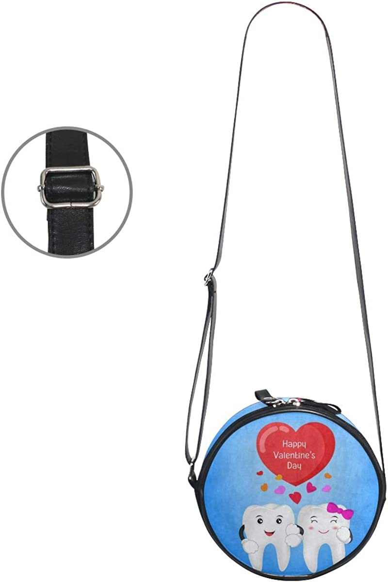 Womens Crossbody Bags Valentines Day Heart Tooth Face Girls Cute Shoulder Bag