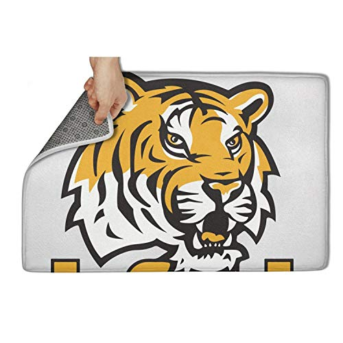 (eatfoodcdk LSU Tigers Primary Team Logo Welcome Doormat 23.5