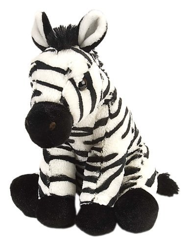 Realistic stuffed zebra of children 30cm [parallel import goods]