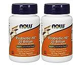 NOW Foods Probiotic-10 25 Billion 50Vcaps (2 Bottles)