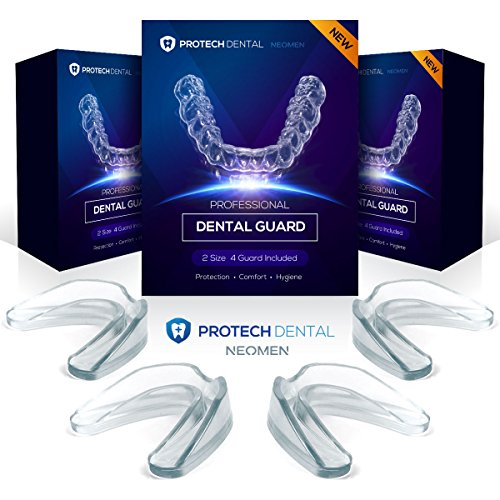 Protech Dental Professional Dental Guard -Pack of 4- Stops Teeth Grinding, Bruxism, & Eliminates, Teeth Clenching. 100% Satisfaction. by NEOMEN
