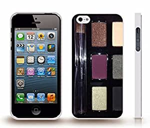 iStar Cases? iPhone 4 Case with Makeup Case with Brush and Different Color Makeup, Photo, Close-up , Snap-on Cover, Hard Carrying Case (White)