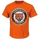 Detroit Tigers Mens Orange League Supreme T-Shirt
