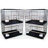YML Lot of 4 Medium Breeding Cages, Black