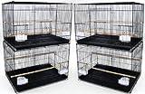 YML Medium Breeding Cages, Lot of 4, Black